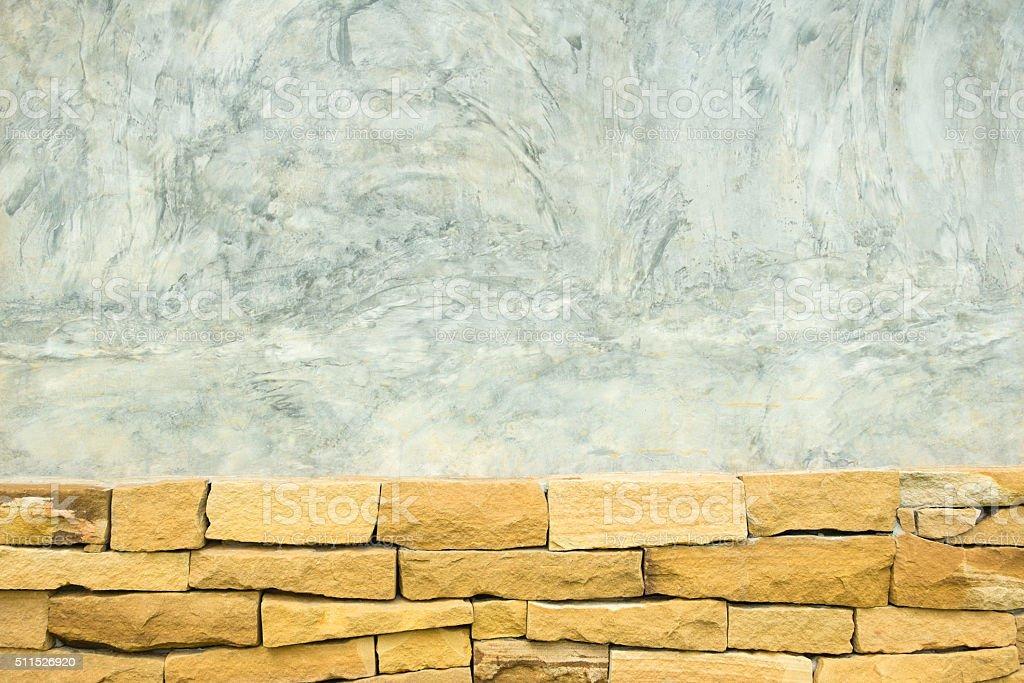 Polierter Beton und Ziegel texturierter Hintergrund Lizenzfreies stock-foto