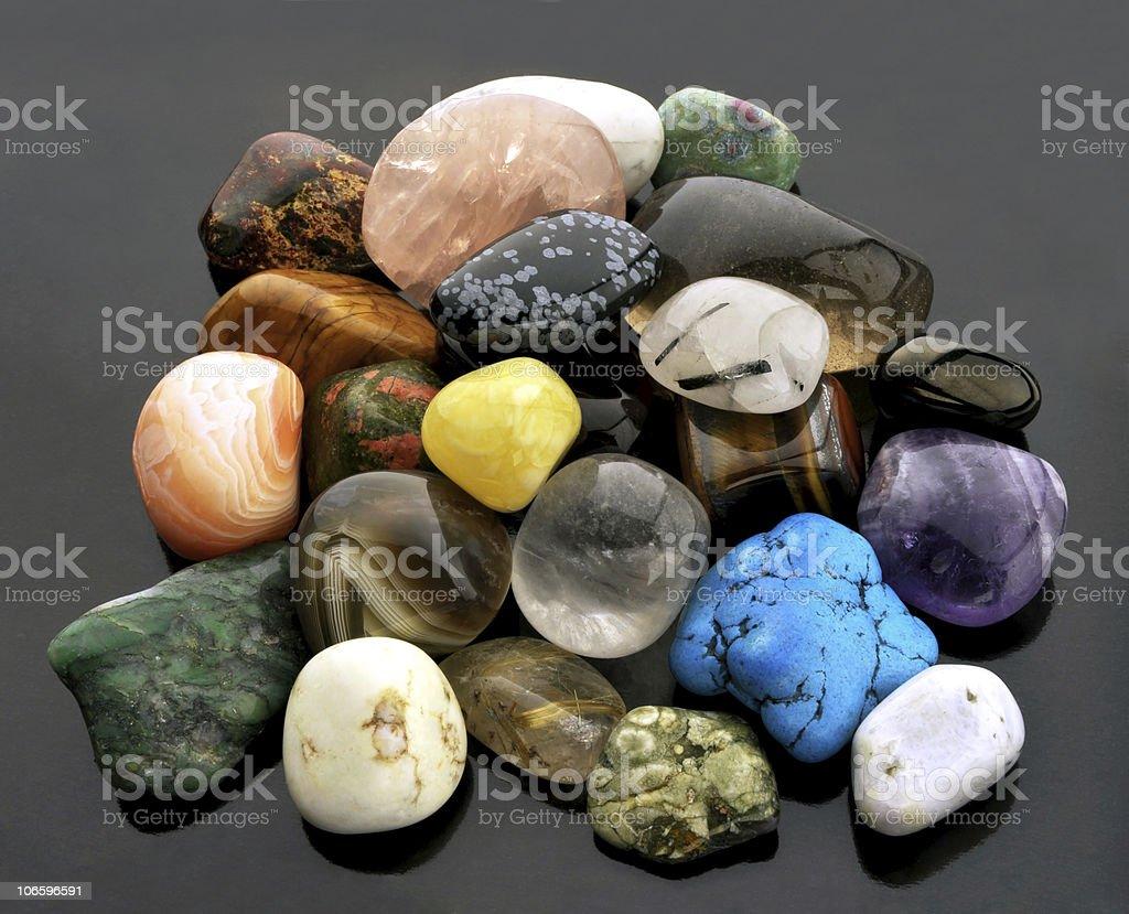 Polished gemstones royalty-free stock photo