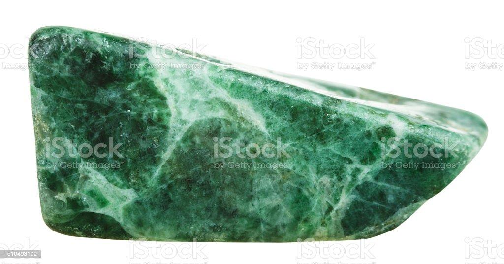 polished green jadeite mineral gem stone stock photo