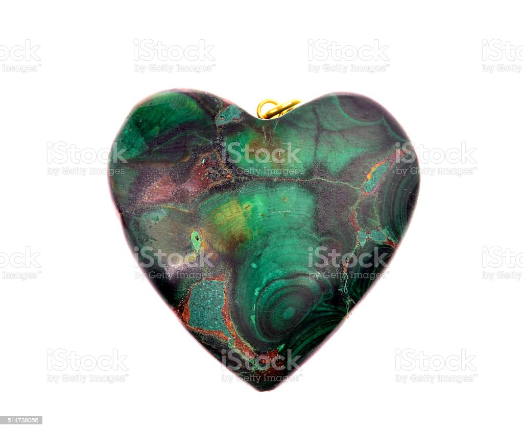 Polished malachite stock photo