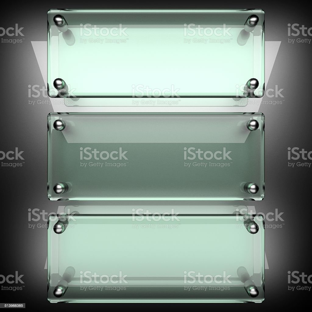 polished metal background with glass stock photo