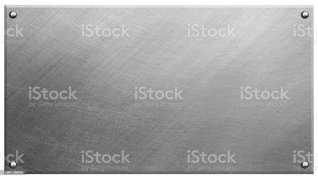 Polished metal plate stock photo