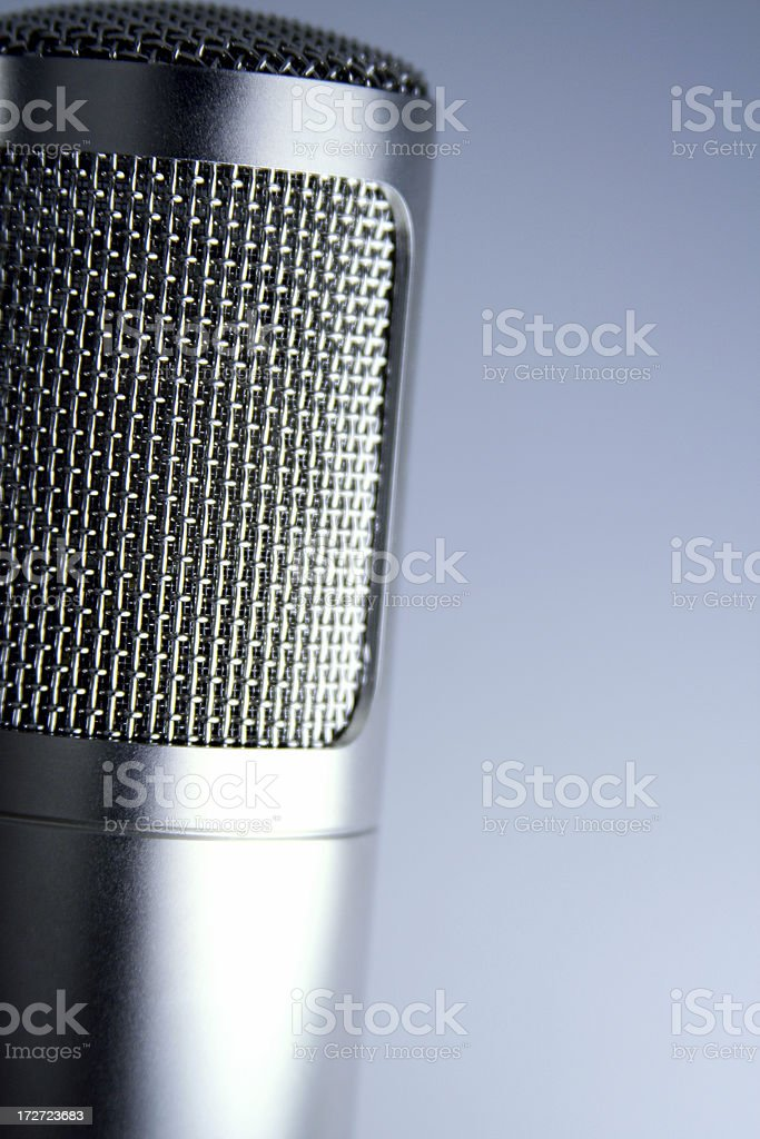 Polished microphone stock photo