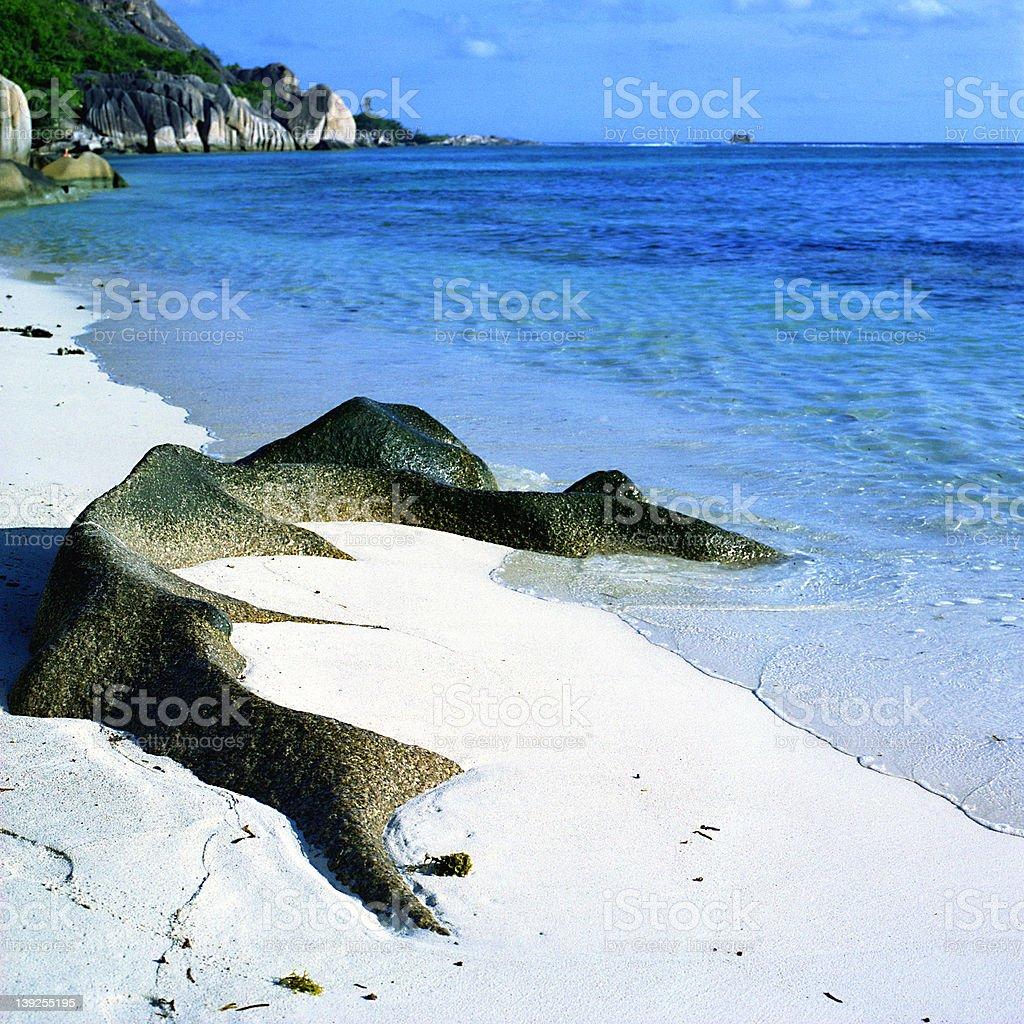 Polished Rock stock photo