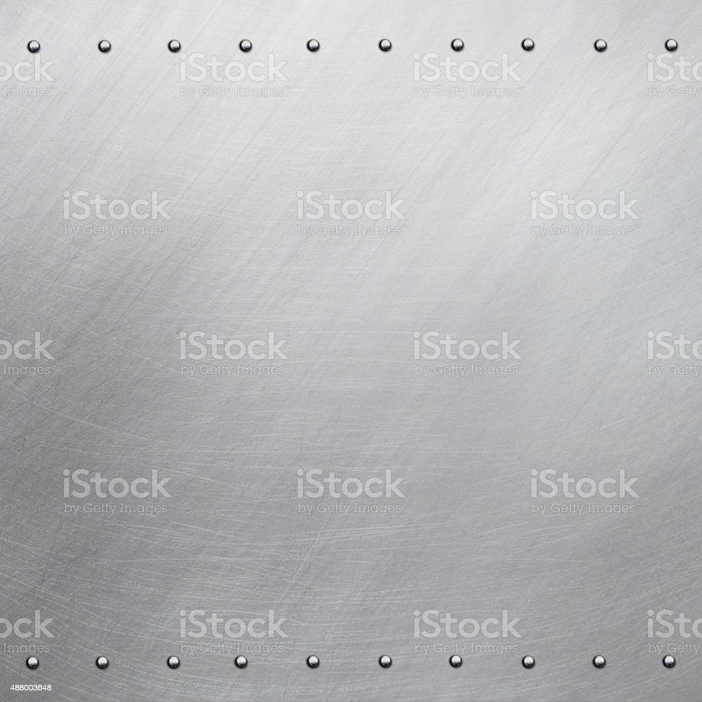 Polished steel stock photo