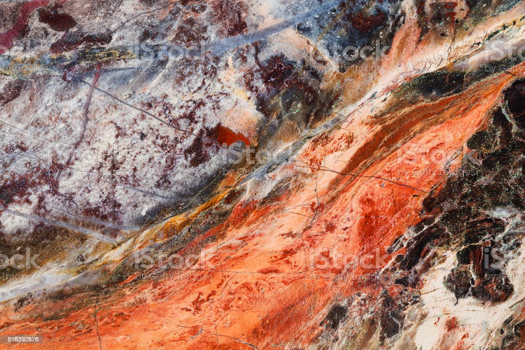polished surface of picture jasper gemstone stock photo