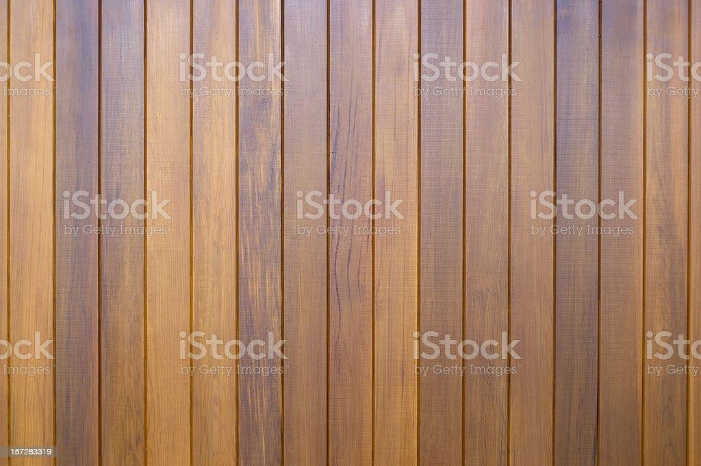 Polished wooden slats stock photo