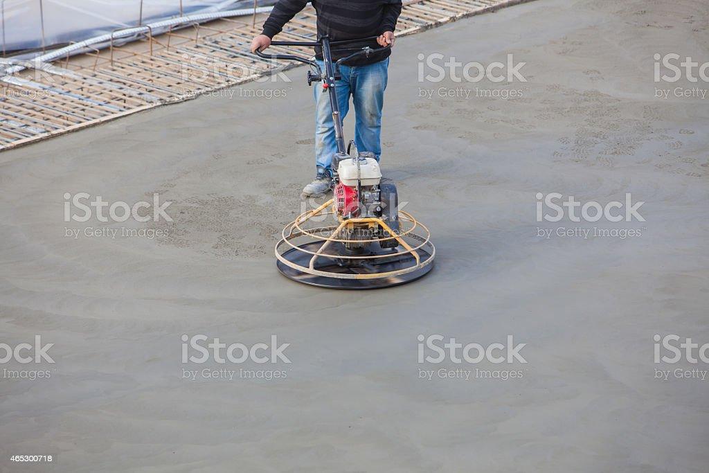 polishing concrete stock photo
