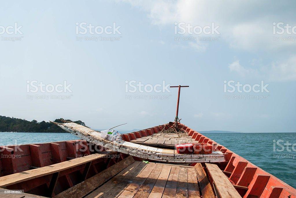 polistiren boat on a longtail stock photo