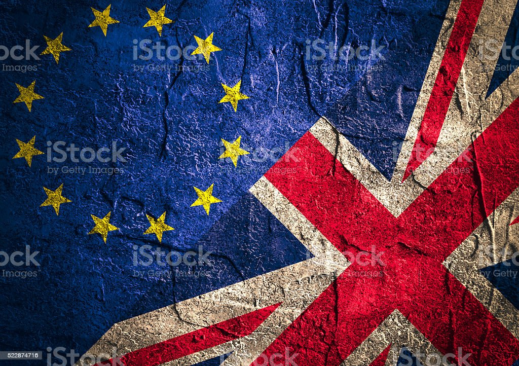 Politic relationship between Europe Union and Great Britain. Brexit stock photo