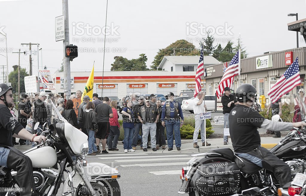 Political Activism at Oyster Run 9-23-12 royalty-free stock photo
