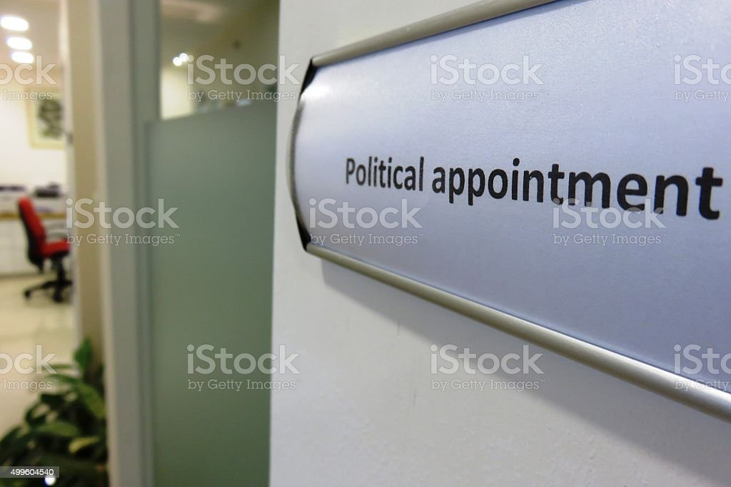 Political appointee Concept stock photo