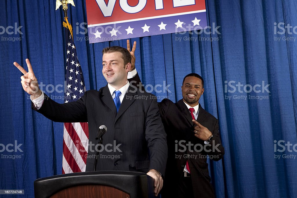 Political Banter royalty-free stock photo