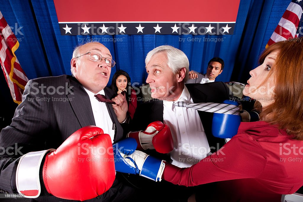 Political Boxing Match royalty-free stock photo