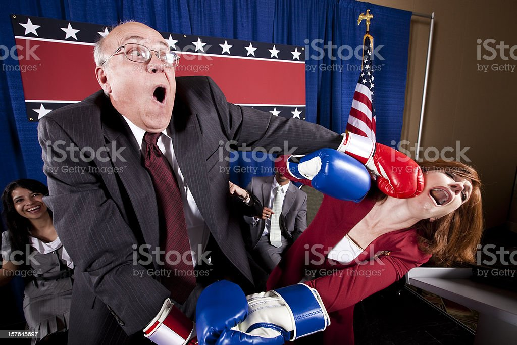 Political Boxing Match stock photo