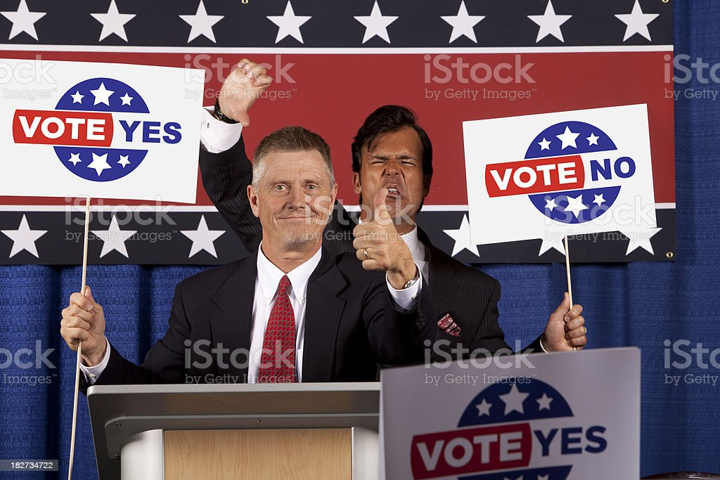 Political Candidate Argue royalty-free stock photo