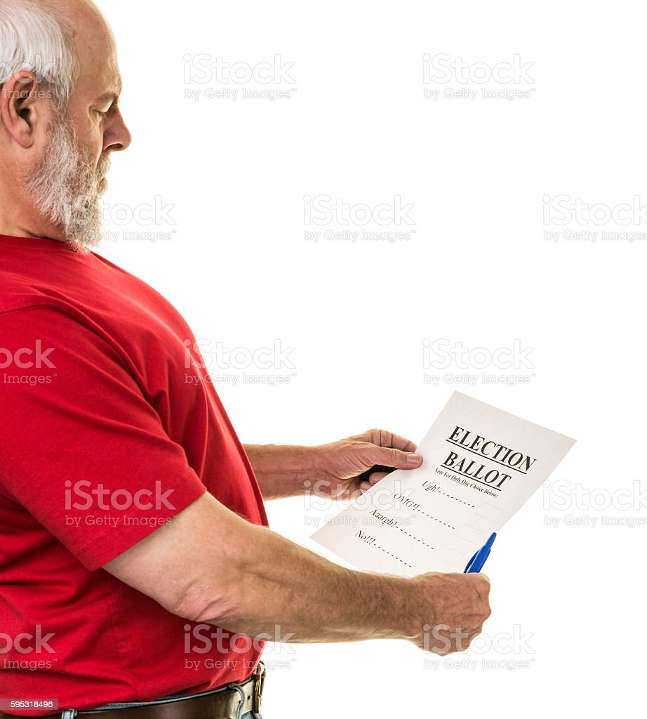 Political Election Distasteful Choices Undecided Voter Election Ballot stock photo
