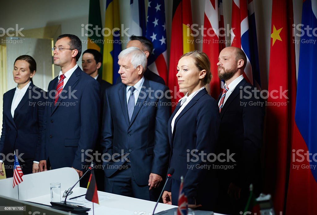 Political event stock photo