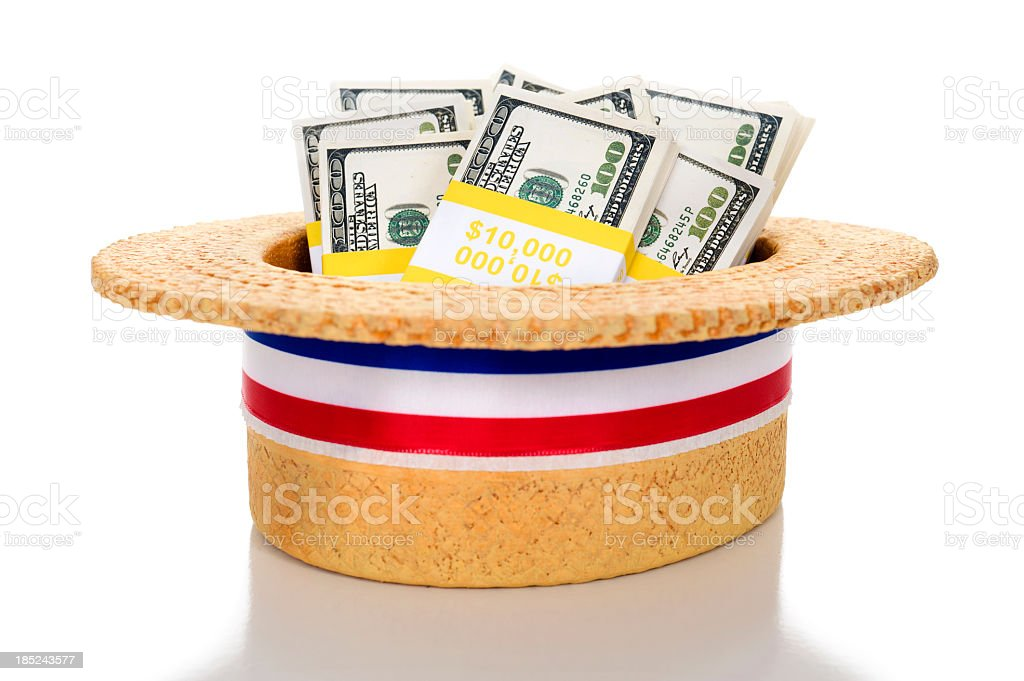 Political Fund raising stock photo