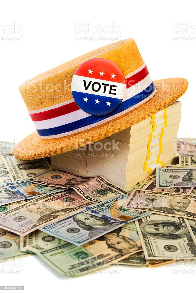 Political Fund raising stock photo