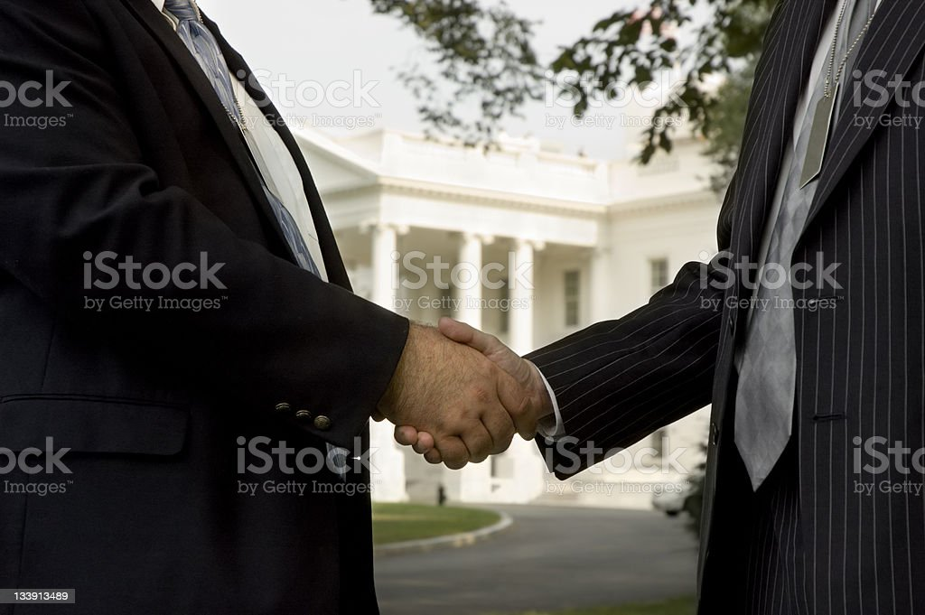 Political Handshake stock photo