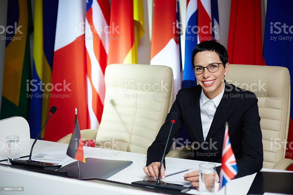 Political leader stock photo