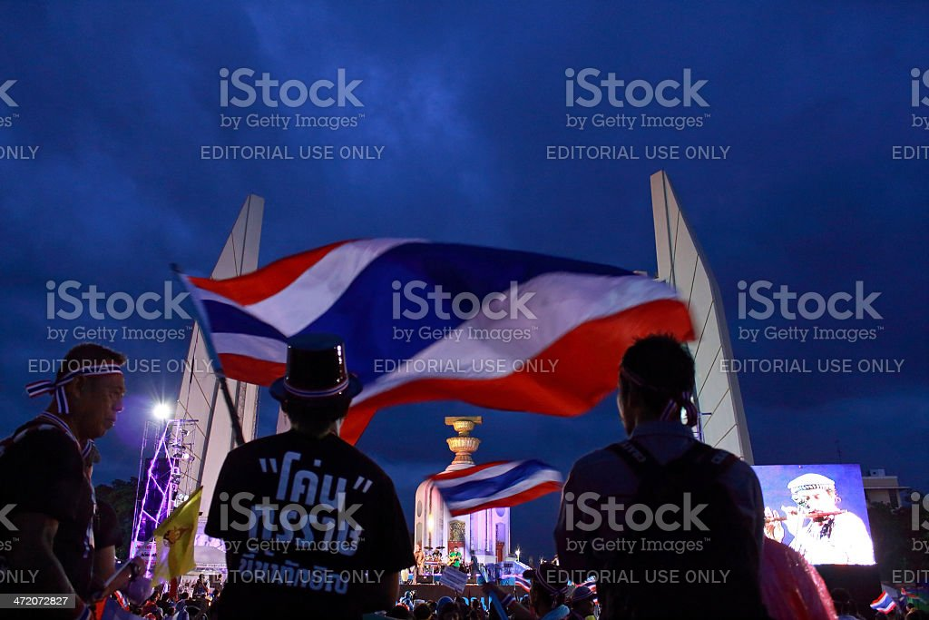 Political participation in Thailand royalty-free stock photo