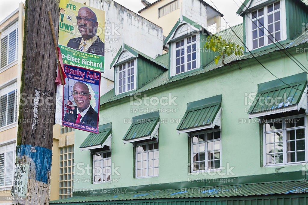Political Propaganda, Castries, Saint Lucia stock photo