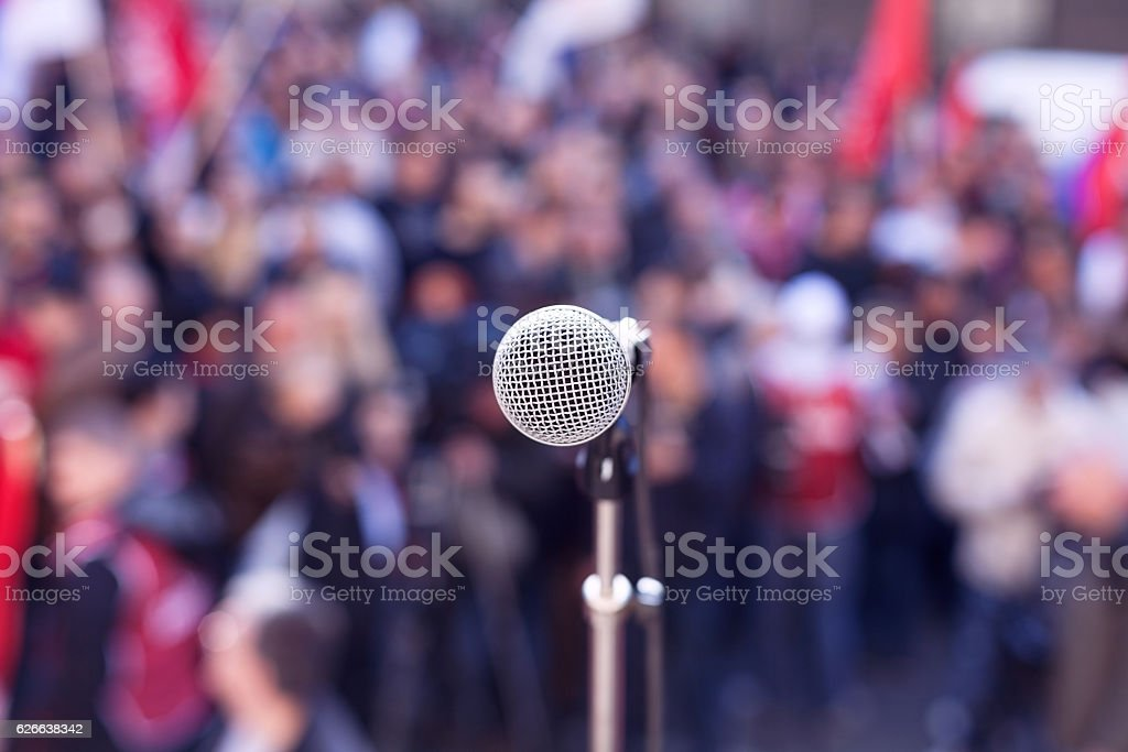 Political protest. Demonstration. stock photo