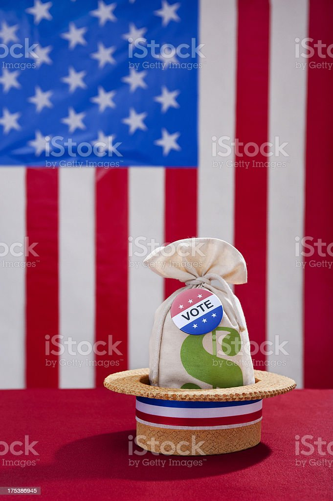 Political Rally Money and the Vote royalty-free stock photo