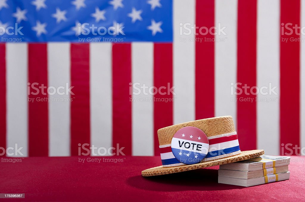 Political Rally Money and the Vote stock photo
