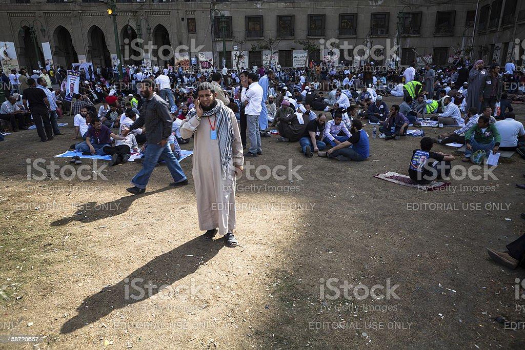 Political rally on Tahrir royalty-free stock photo