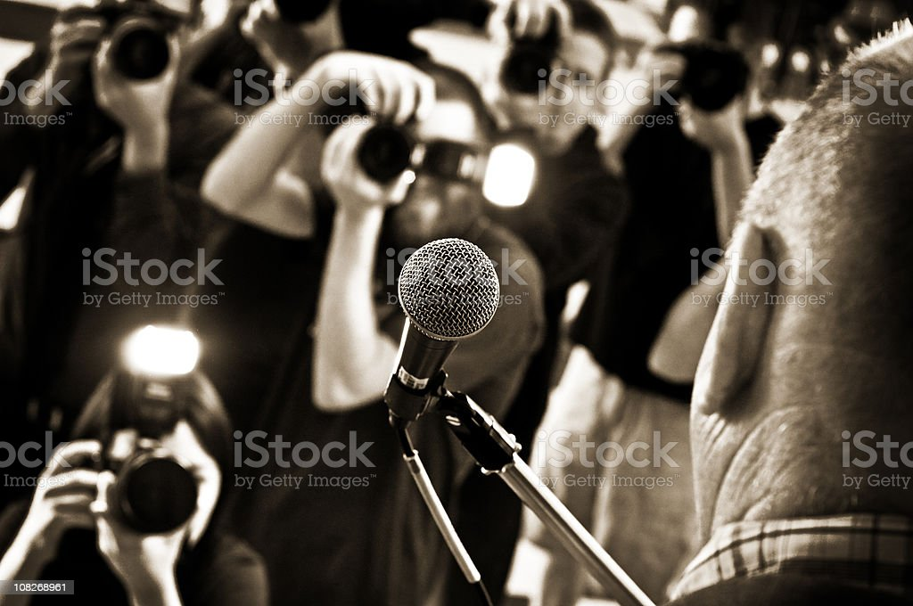 Political Rally stock photo