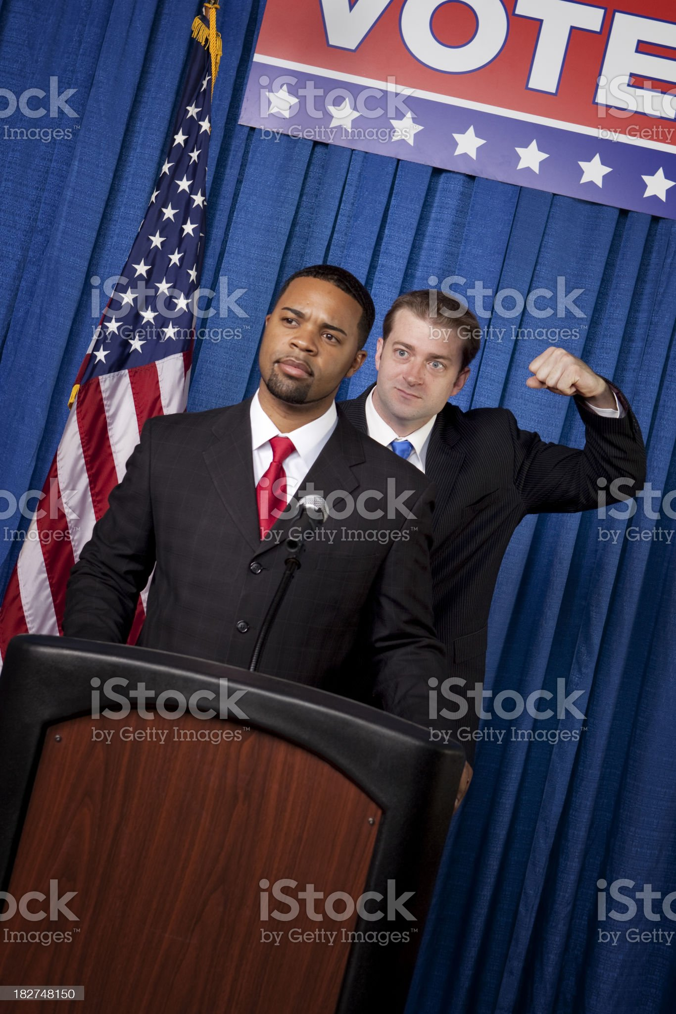 Political Sucker Punch royalty-free stock photo