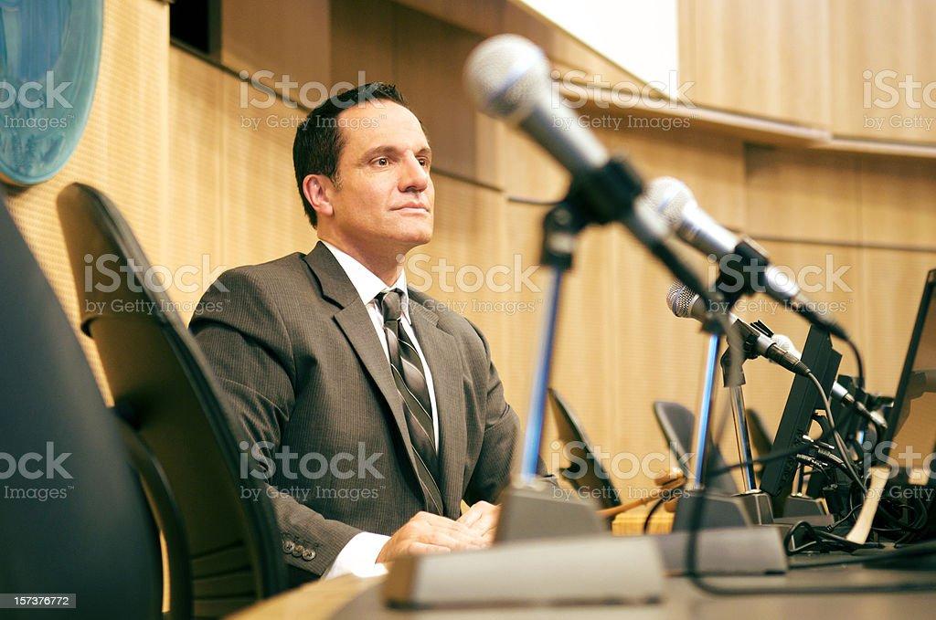 Politician at auditorium stock photo