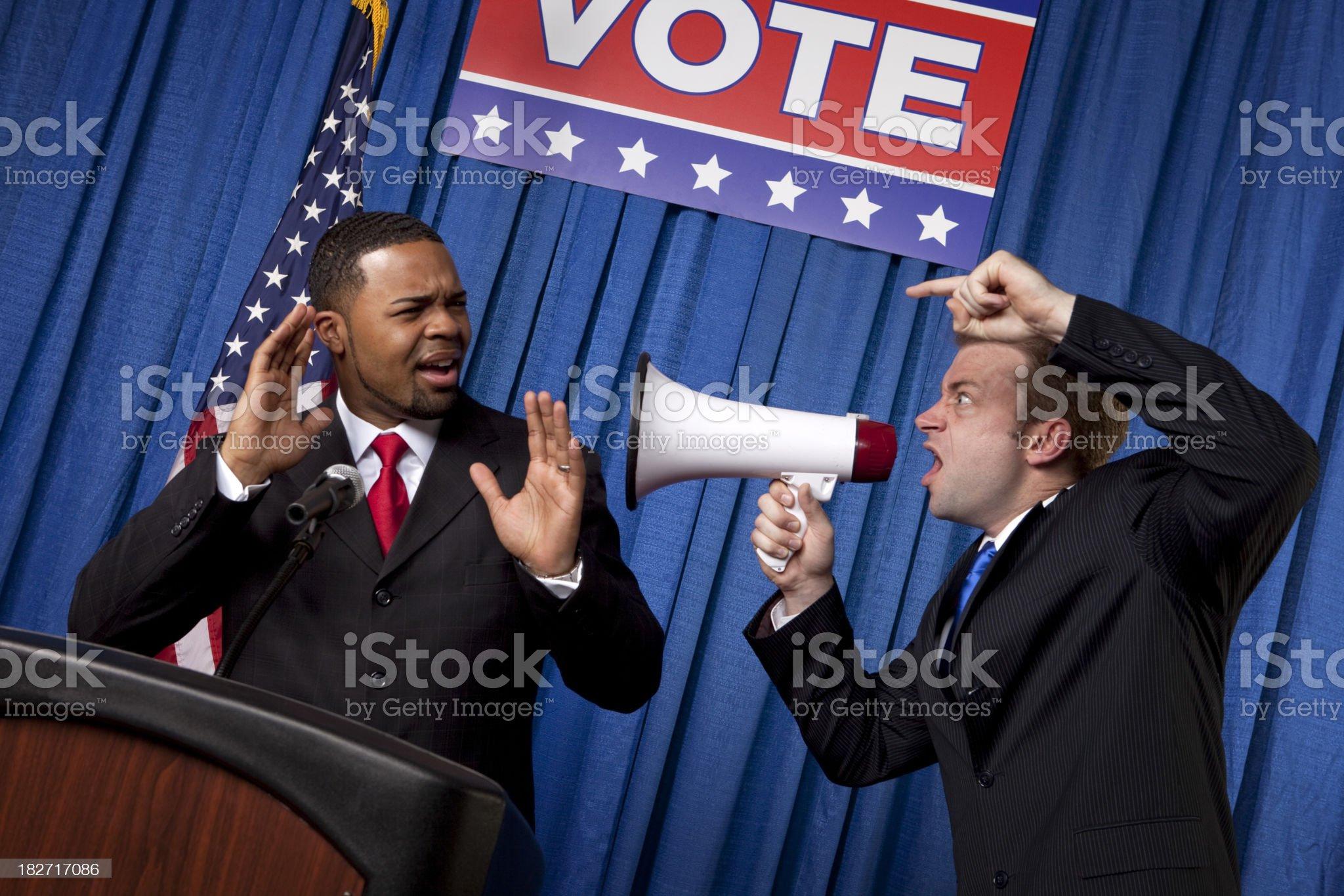 Politician Bickering royalty-free stock photo