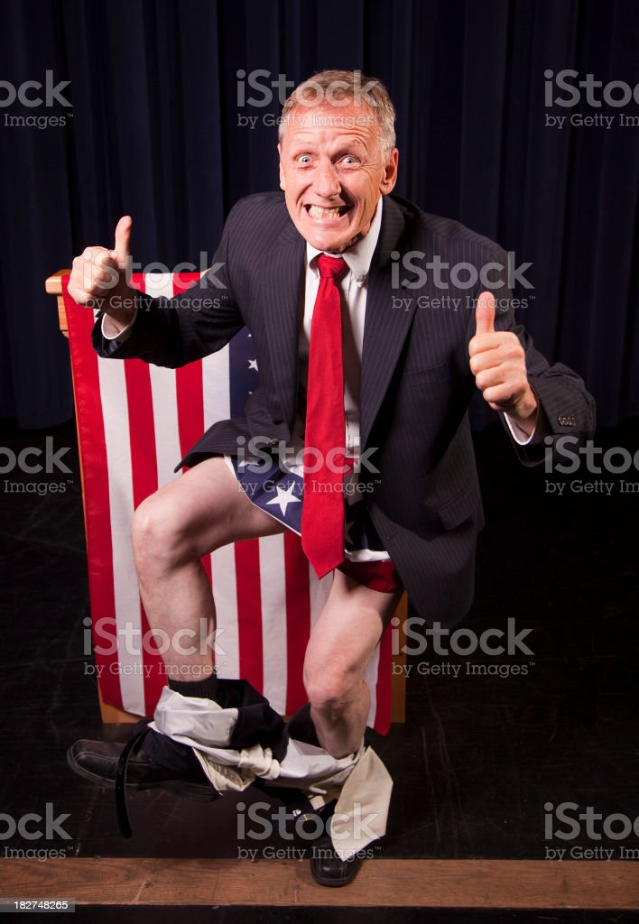 Politician Caught With His Pants Down royalty-free stock photo