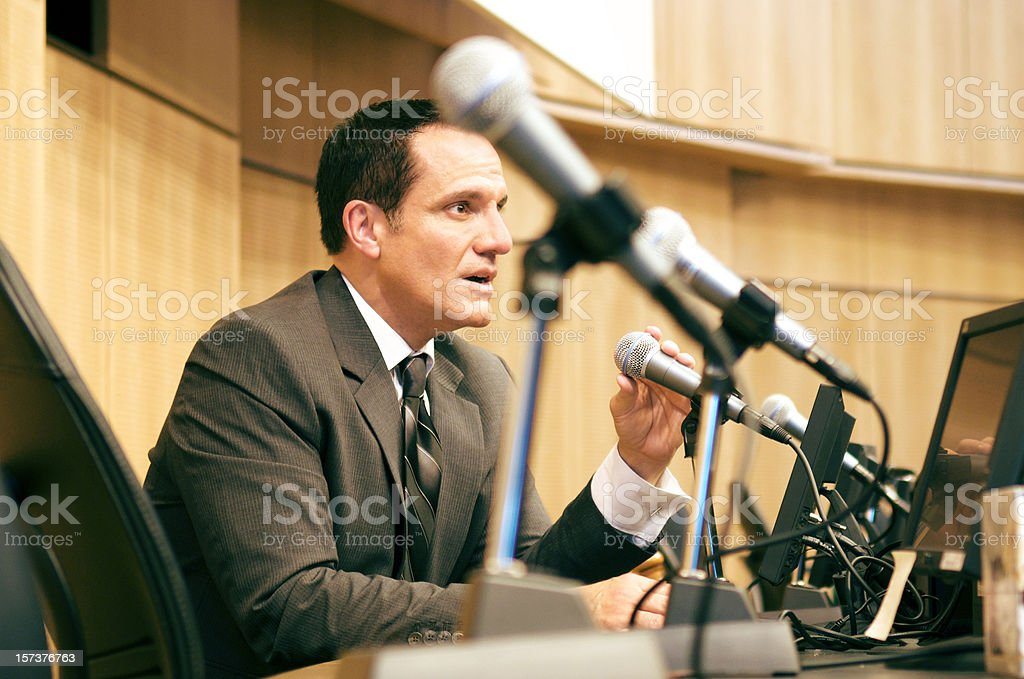 Politician Debating stock photo