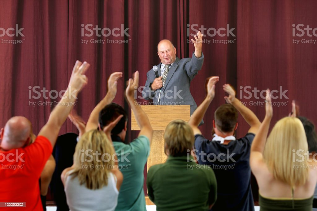 Politician during his speech... royalty-free stock photo