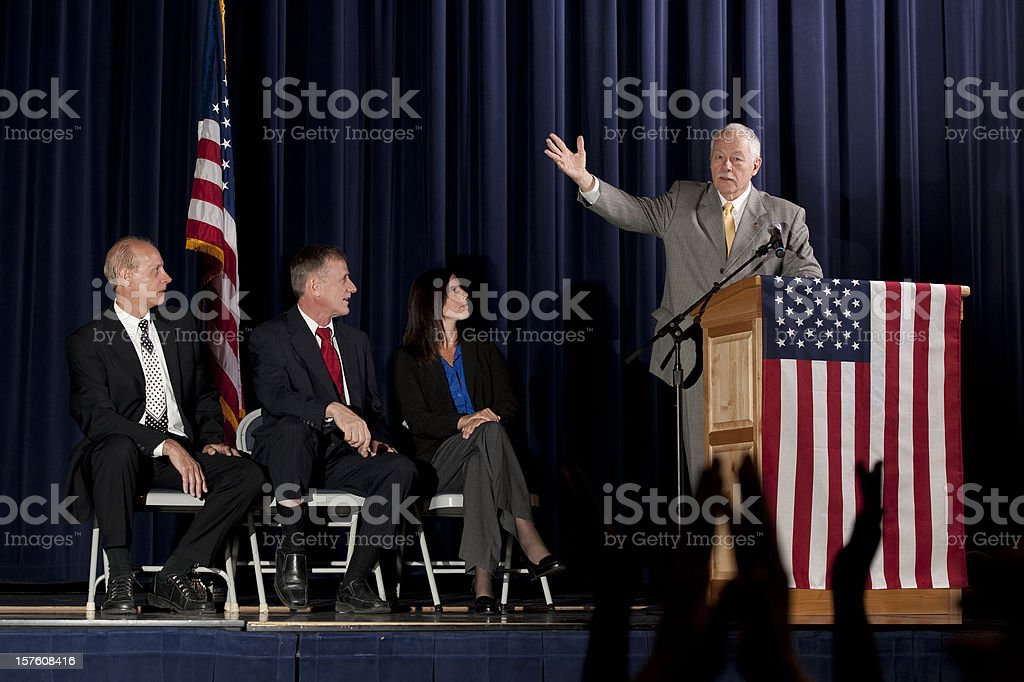 Politician giving a Speech royalty-free stock photo