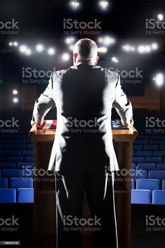 Politician Speech stock photo