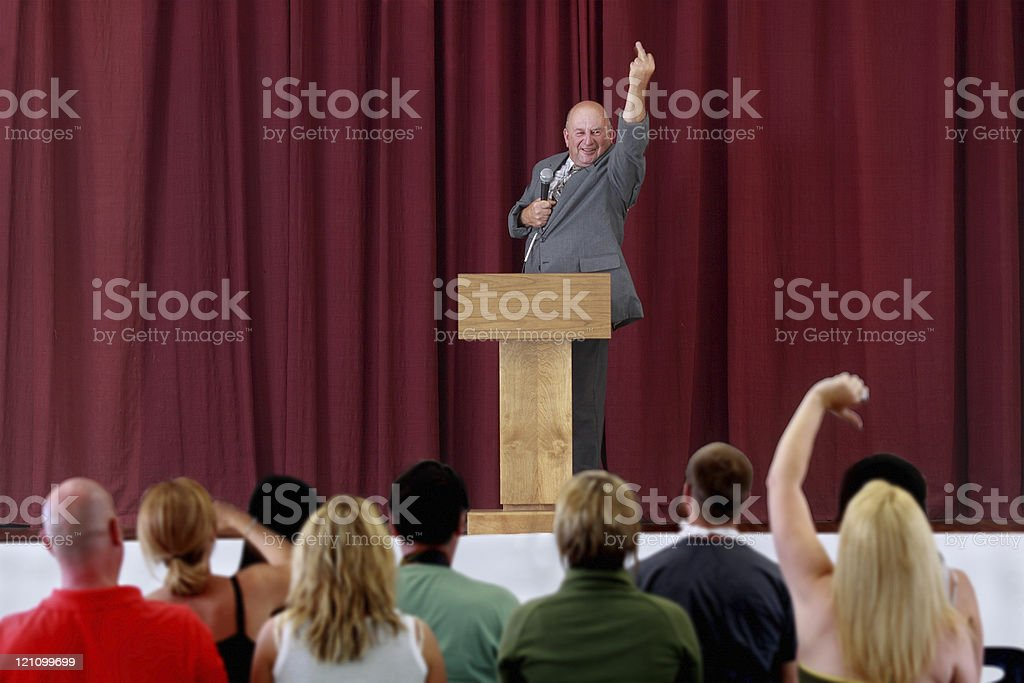 Politician with bad manners royalty-free stock photo