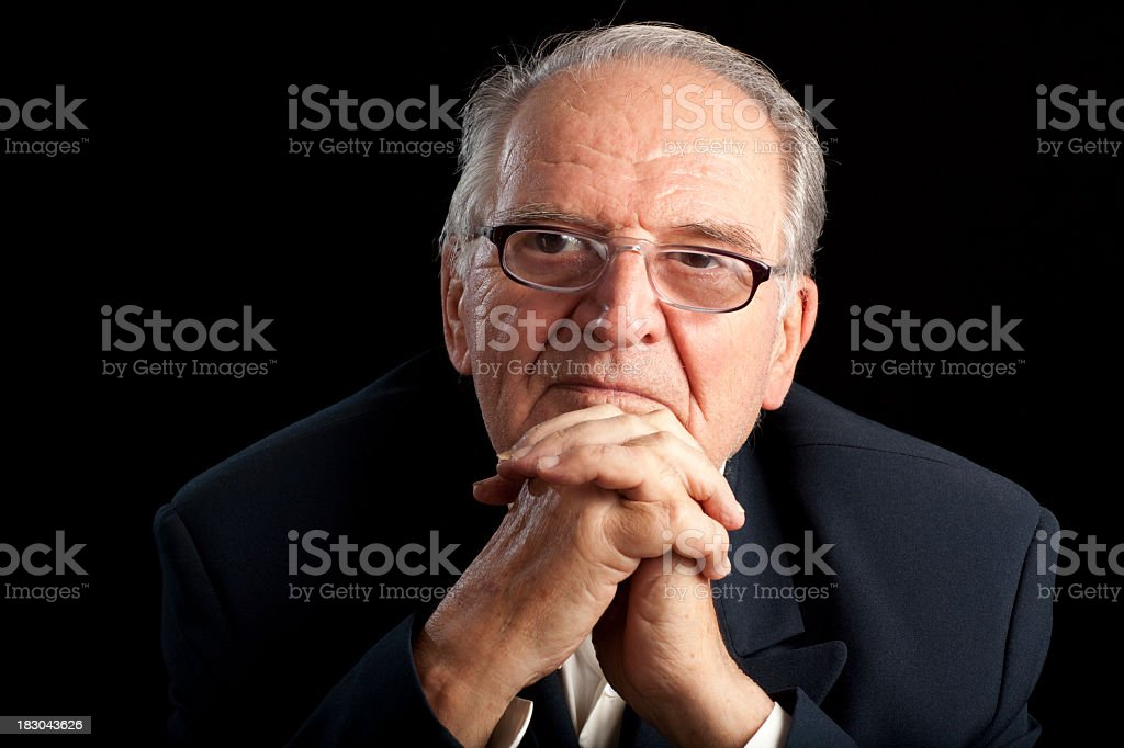 Politician with life's experience. royalty-free stock photo