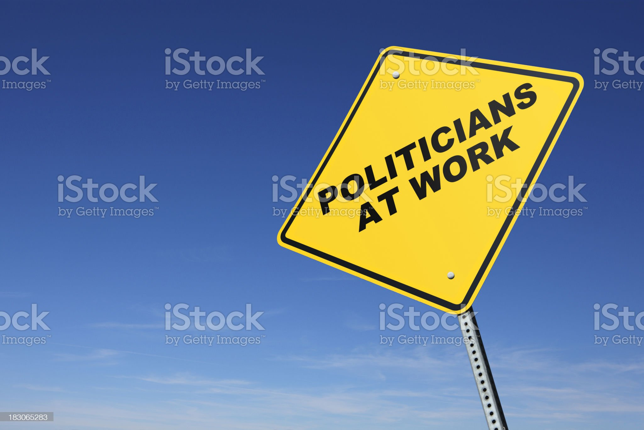 Politicians At Work royalty-free stock photo
