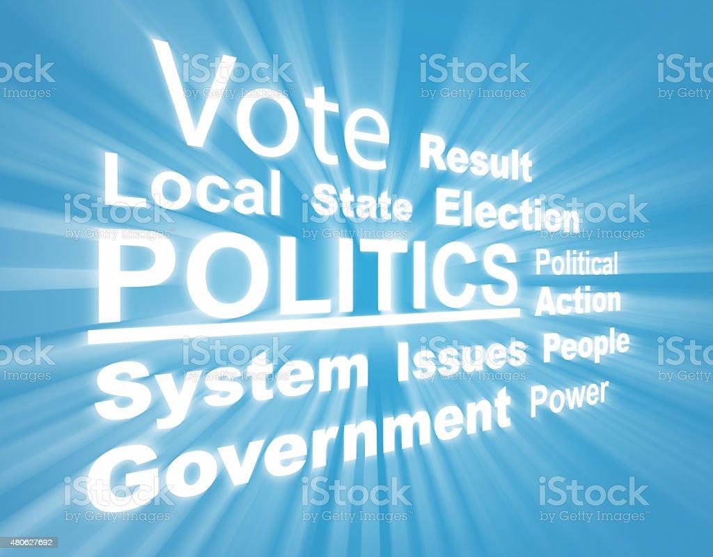 Politics - Word cloud stock photo