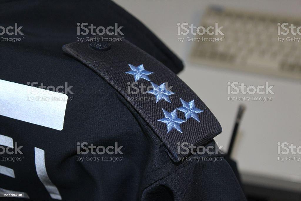 Polizei im Büro stock photo