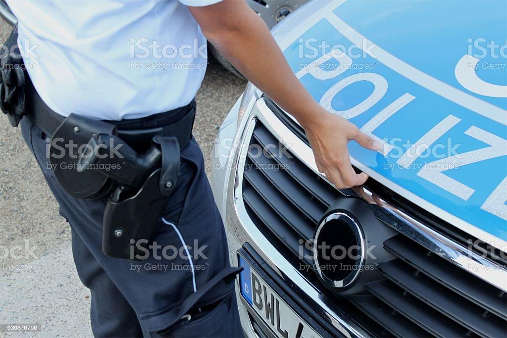 Polizei im Einsatz stock photo