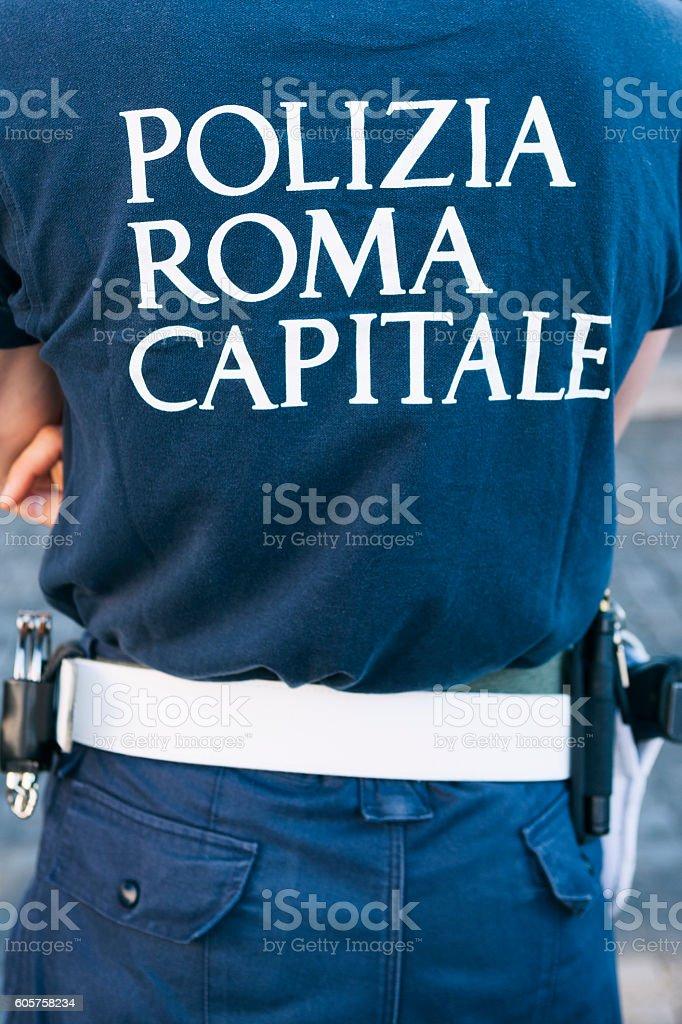 Polizia in Rome, Italy stock photo