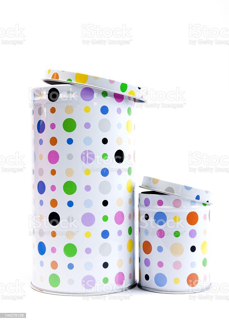 polka dot cans royalty-free stock photo
