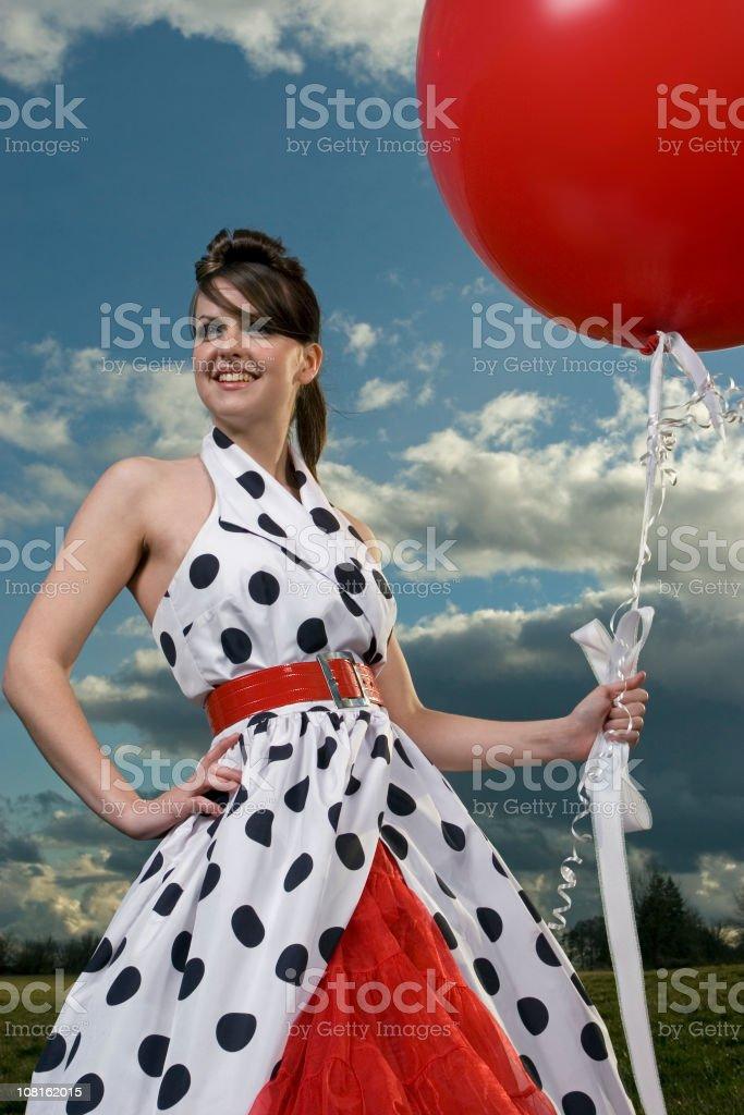 Polka Dot Dress Series royalty-free stock photo